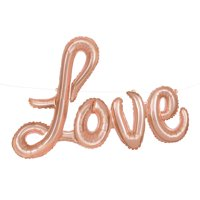 "Foil ""LOVE"" Letter Balloon Banner, Rose Gold"