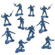 Fun Express Big Bag of Blue Army Plastic Toy Soldiers - Army Men! Action Figure (144 Count)