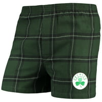 Boston Celtics Concepts Sport Homestretch Flannel Boxer Shorts - Green