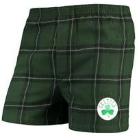 Boston Celtics Concepts Sport Homestretch Flannel Boxer Shorts - Green