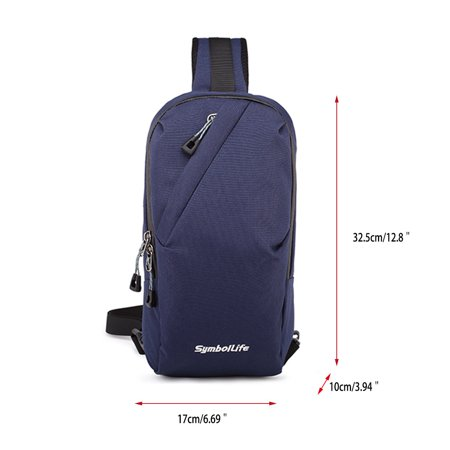 Outdoor Sports Casual Oxford Unbalance Bag Cross body Sling Bag ...