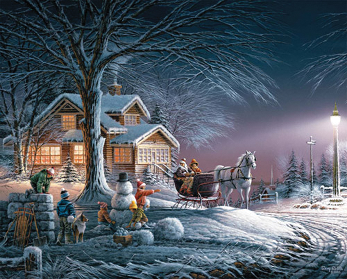 """Jigsaw Puzzle Terry Redlin 1000 Pieces 24"""" x 30\ by White Mountain Puzzles"""
