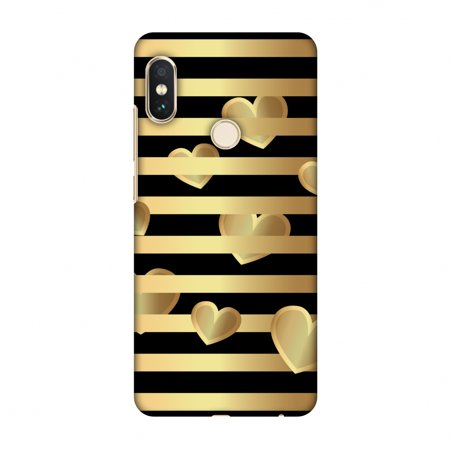 Xiaomi Redmi Note 5 Pro Case - Hearts Between Lines, Hard Plastic Back Cover, Slim Profile Cute Printed Designer Snap on Case with Screen Cleaning -