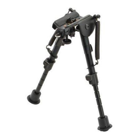 Aimtech Stud Mount 6-9 in Adjustable Notched Leg Bipod, Heavy Duty, Black, AFA-1 Adjustable Mount Black Powder Coat