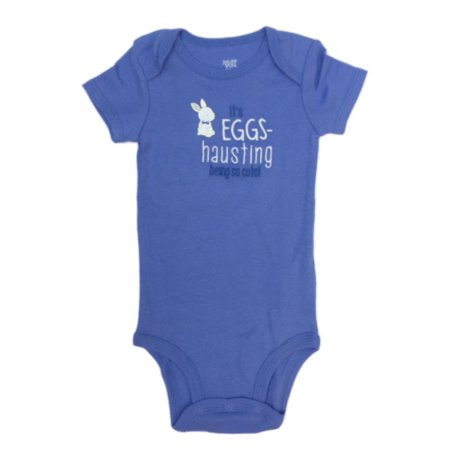 Carters Infant Boys Blue Easter Bunny Bodysuit Eggs-haustingly Cute Baby Outfit