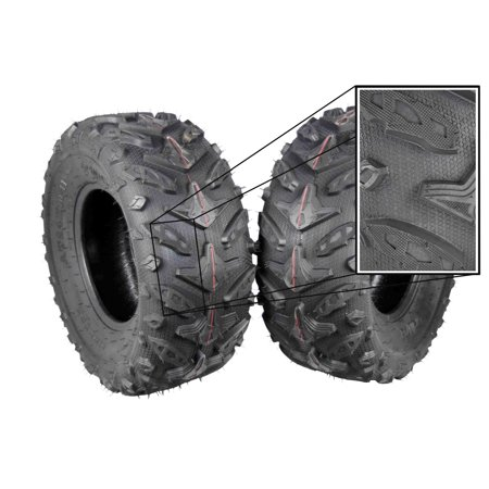 MASSFX Grinder 24x10-11 Dual Compound Rear ATV Tires 2 Set 24x10x11 - Dual Compound