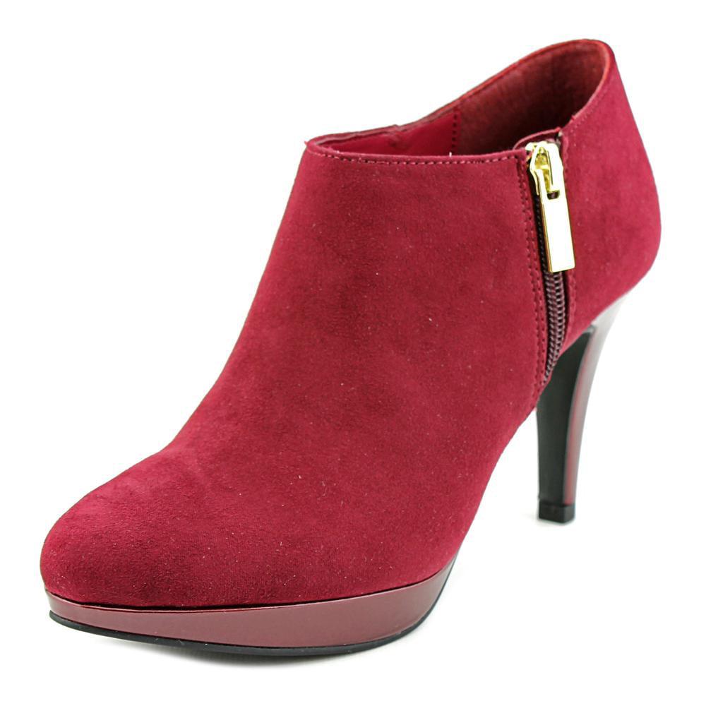 liz claiborne ella toe suede burgundy ankle