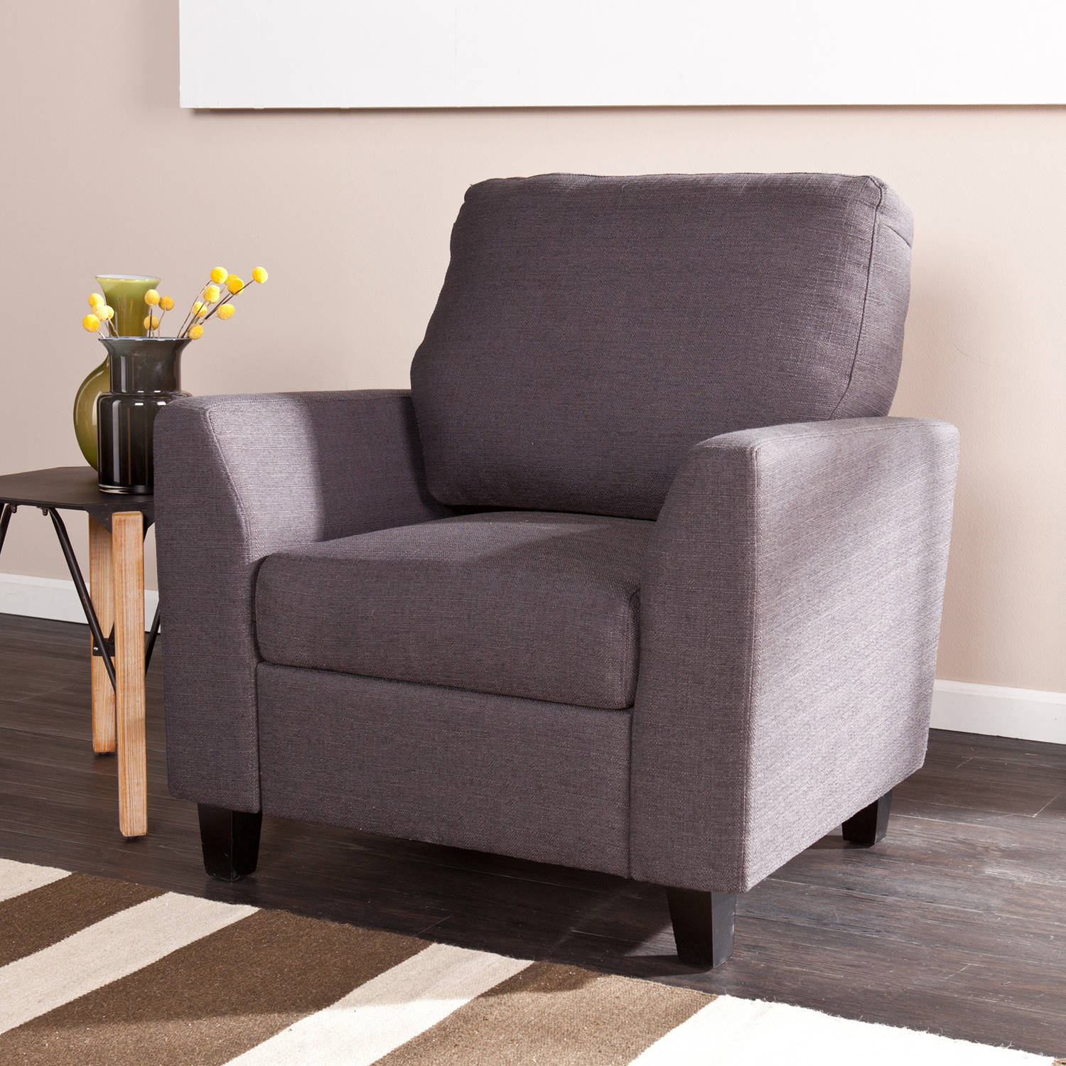 Holly and Martin Plushen Chair, Anthracite
