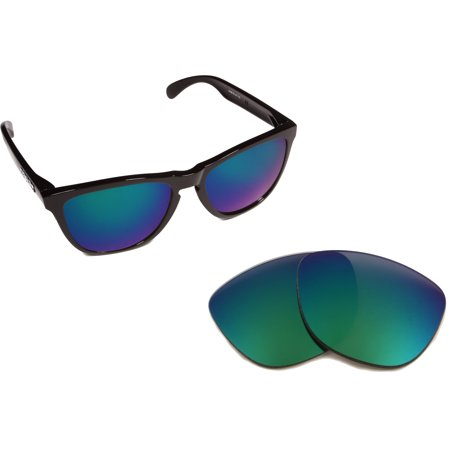 Replacement Lenses Compatible with OAKLEY Frogskins Polarized Green (Oakley Frogskins Iridium Lens)