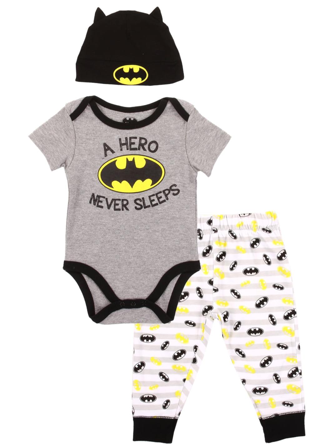 Superman Captain America Infant Superhero Creeper Set Includes Batman