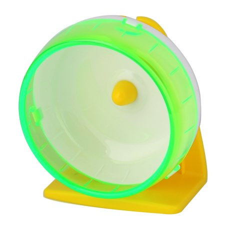 - Pet Hamster Gerbil Plastic Play Stand Wheel Toy Holder Light Green w Suction Cup
