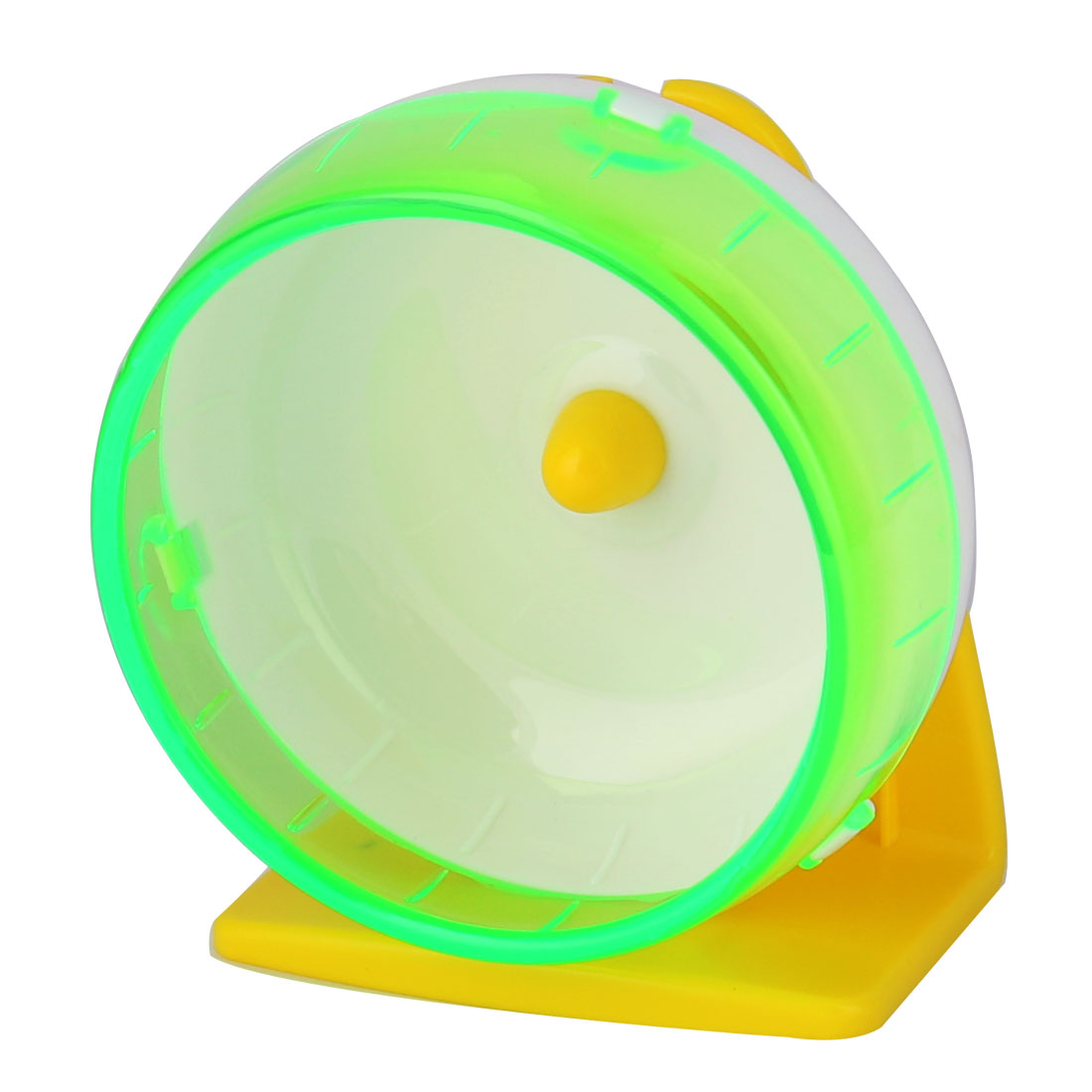 Unique Bargains Pet Hamster Gerbil Plastic Play Stand Wheel Toy Holder Light Green w Suction Cup