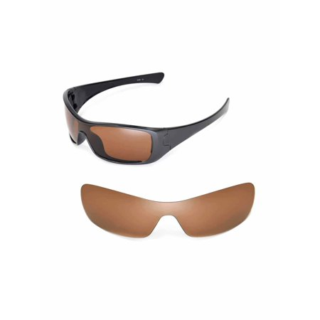 Walleva Brown Polarized Replacement Lenses for Oakley Antix Sunglasses