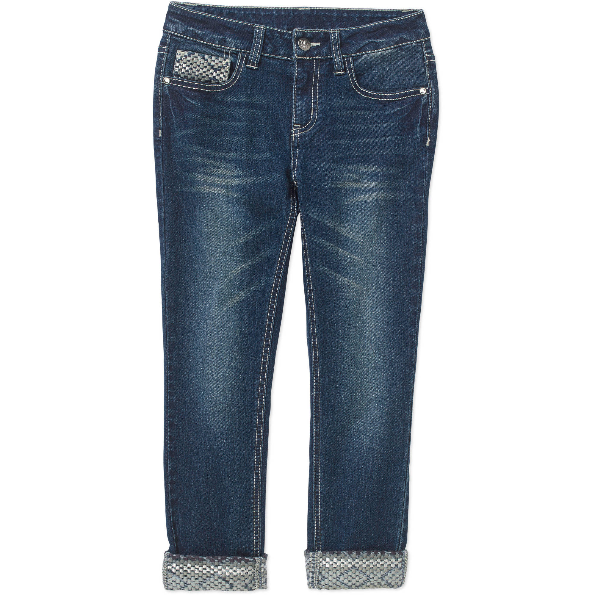 Faded Glory Girls' Fashion Boyfriend Jeans