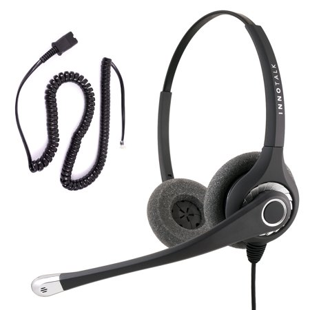 Cisco 7861 7931G, 7940, 7941, 7942, 7945, 7960 Professional Binaural  Headset + Cisco Phone Headset Adapter built in Plantronics Compatible QD
