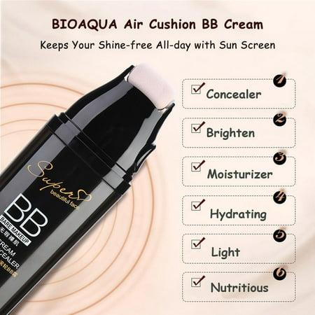 Lv. life BIOAQUA Scrolling Roller Air Cushion BB Cream Waterproof Concealer Face Makeup Cosmetics, Foundation, Air Cushion BB Cream