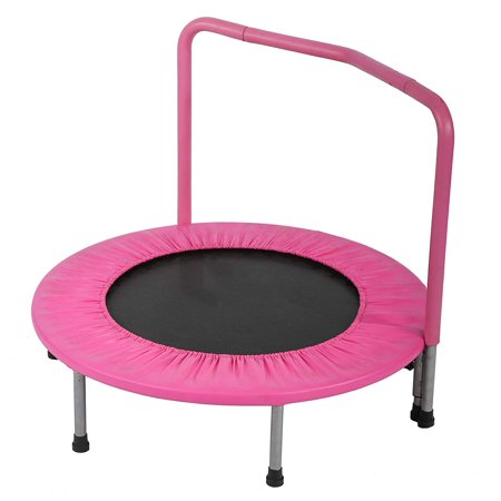 Trampoline Kid Trampoline Portable Trampoline For Kids With Handrail And Padded Cover Rebounder Jumping Mat Safe for Kid w/Padded 36 Inch trampoline Fitness
