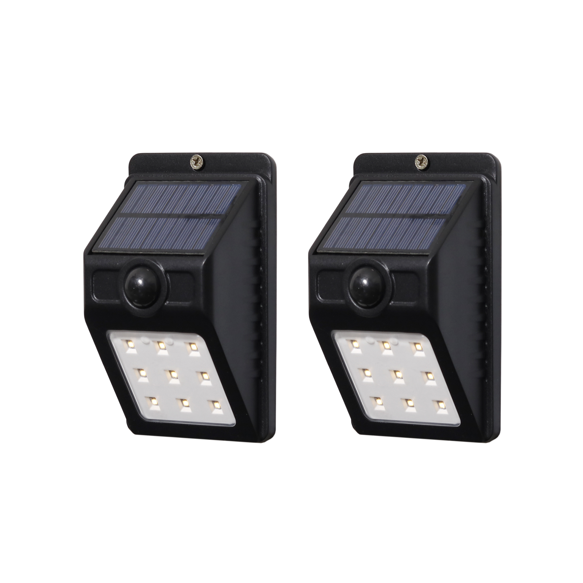 Westinghouse 100 Lumen Solar Motion Activated Lights Black Finish 2PK by Quanxin Lighting & Electrical Corporation Limited