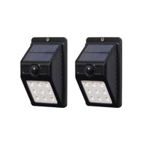 Westinghouse 100 Lumen Solar Motion Activated Lights Black Finish 2pk