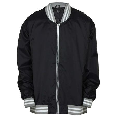 9 Crowns Men's Big & Tall Full Zip Varsity Windbreaker Jacket](Kids Varsity Jacket)
