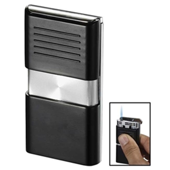 Visol VLR101102 Noipas Black and Chrome Wind-Resistant Jet Flame Lighter