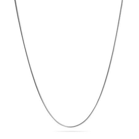 - Thin Snake Flexible Chain Link Strong 1.5mm For Women For Men Necklace Silver Tone Stainless Steel