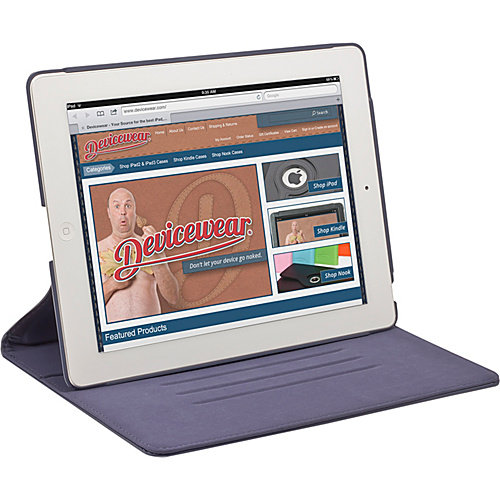 Devicewear The Ridge: for iPad 3: Slim Vegan Leather Case w/ Stand