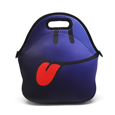 09dec13cf3aa Insulated Neoprene Lunch Bag Removable Shoulder Strap Reusable ...