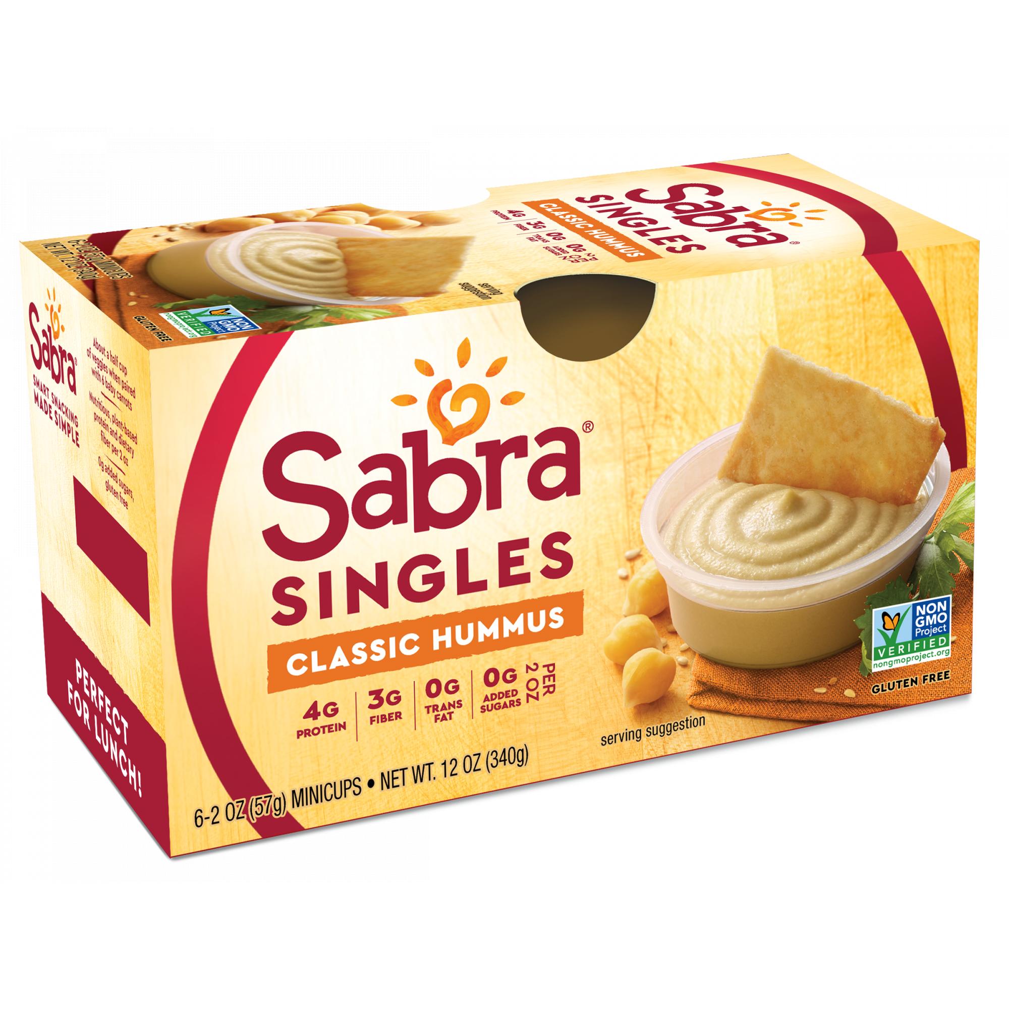 Sabra Hummus Classic 2 oz Cups, 6 Count