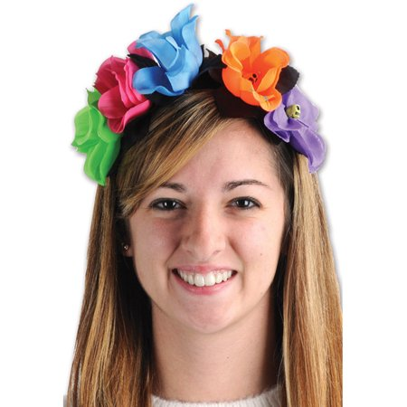 Day Of The Dead Flower Headband - Dread Headband