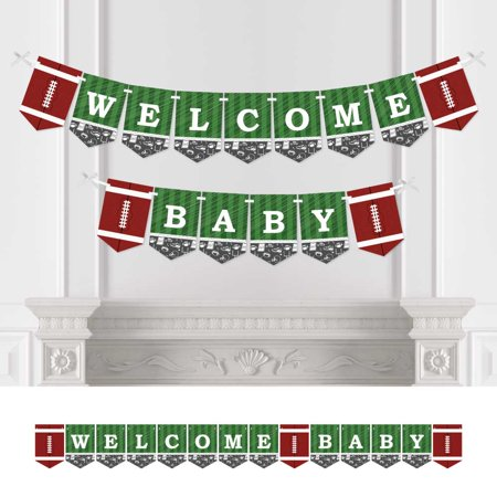 End Zone - Football - Baby Shower Bunting Banner - Sports Party Decorations - Welcome Baby - Fantasy Football Banner