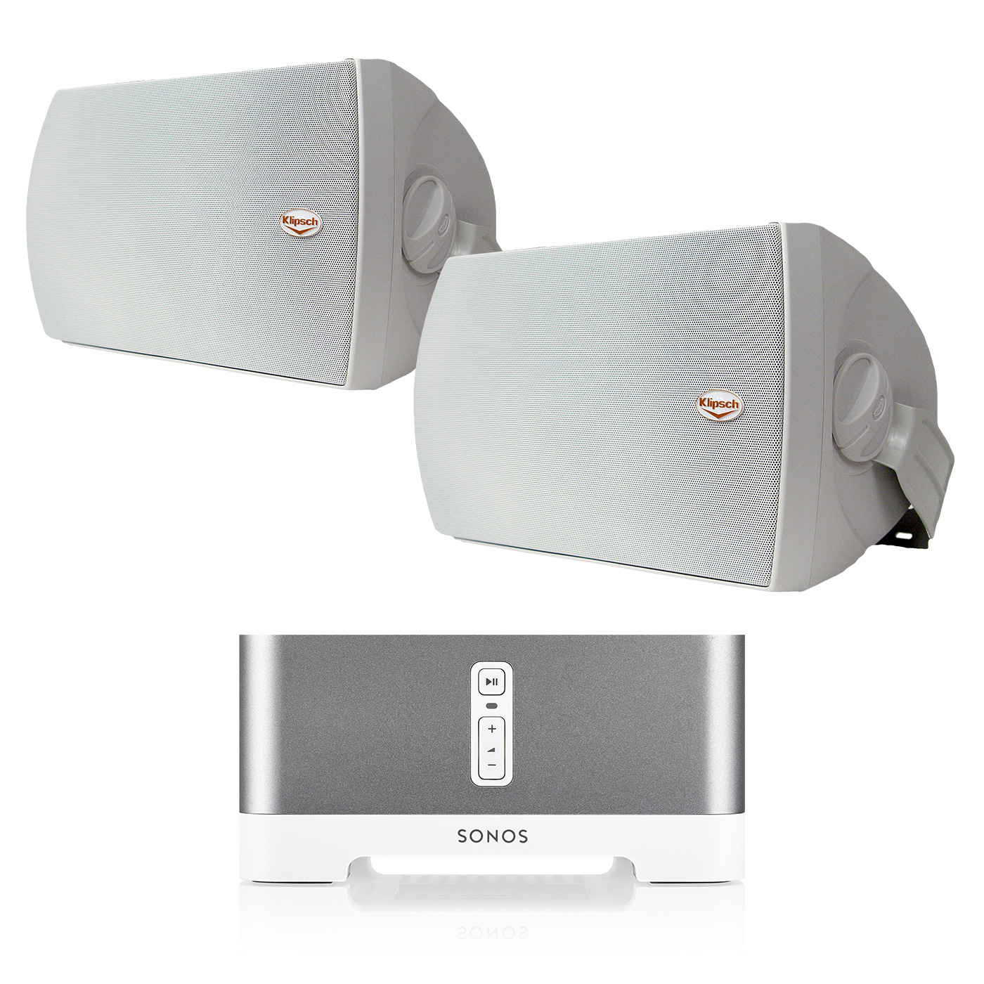 "Sonos CONNECT:AMP Wireless Hi-Fi Player (White) with Klipsch AW-650 6.5"" Reference Series Outdoor Loudspeaker Pair... by Sonos"