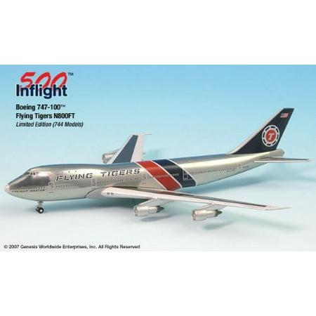 Flying Tigers N800FT 747-100F Airplane Miniature Model Metal Die-Cast 1:500 Part# -