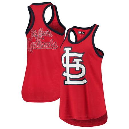 St. Louis Cardinals G-III 4Her by Carl Banks Women's Team Logo Tater Racerback Tank Top - Red - Carl Aqua Team