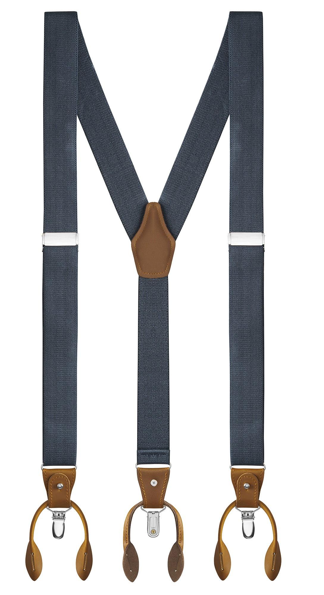 New Light Pink Suspender Men//Junior Elastic Adjustable Y-Back Clip Made in USA