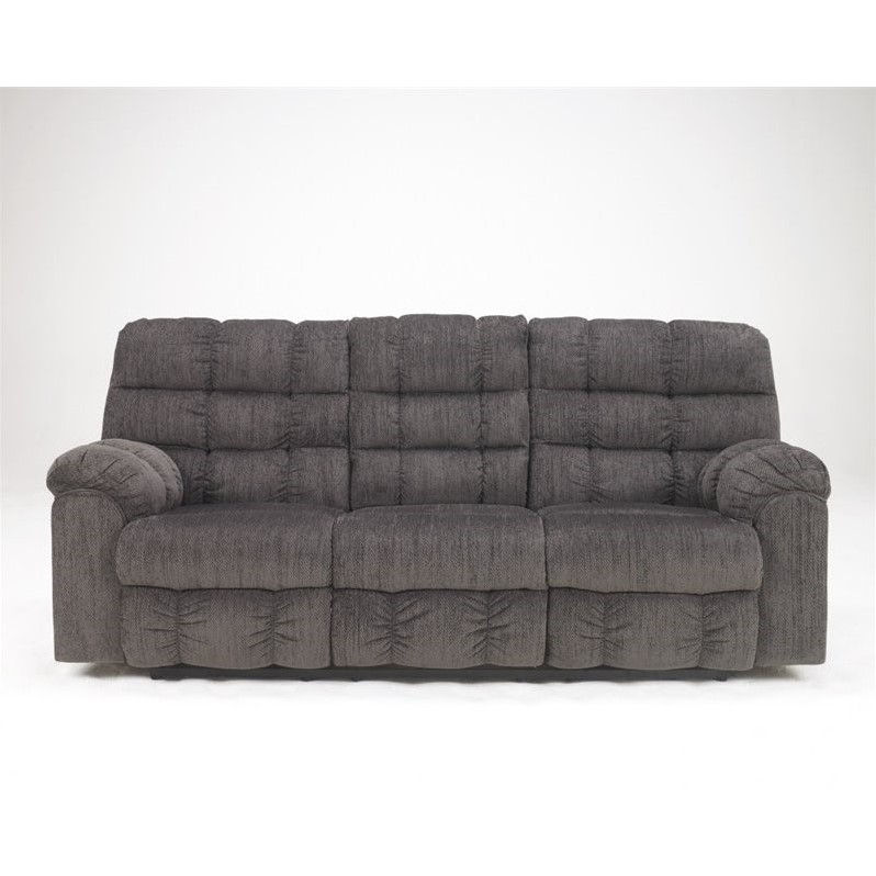 Ashley Furniture Acieona 3 Piece Fabric Reclining Sectional in Slate  sc 1 st  Walmart : hide a bed sectional - Sectionals, Sofas & Couches