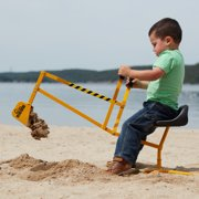 The Big Dig® Sandbox Digger Toy Excavator with 360° Rotation, Great for Sand, Dirt and Snow, Steel Outdoor Play Toy