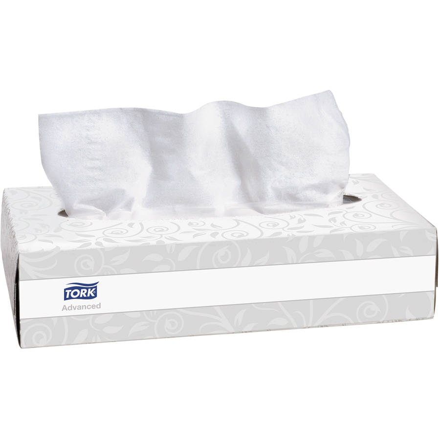 Tork Advanced Extra Soft White 2-Ply Facial Tissue, 100 sheets, (Pack of 30)