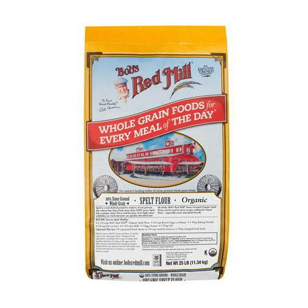 Bob's Red Mill Organic Spelt Flour 25lb Bulk Case