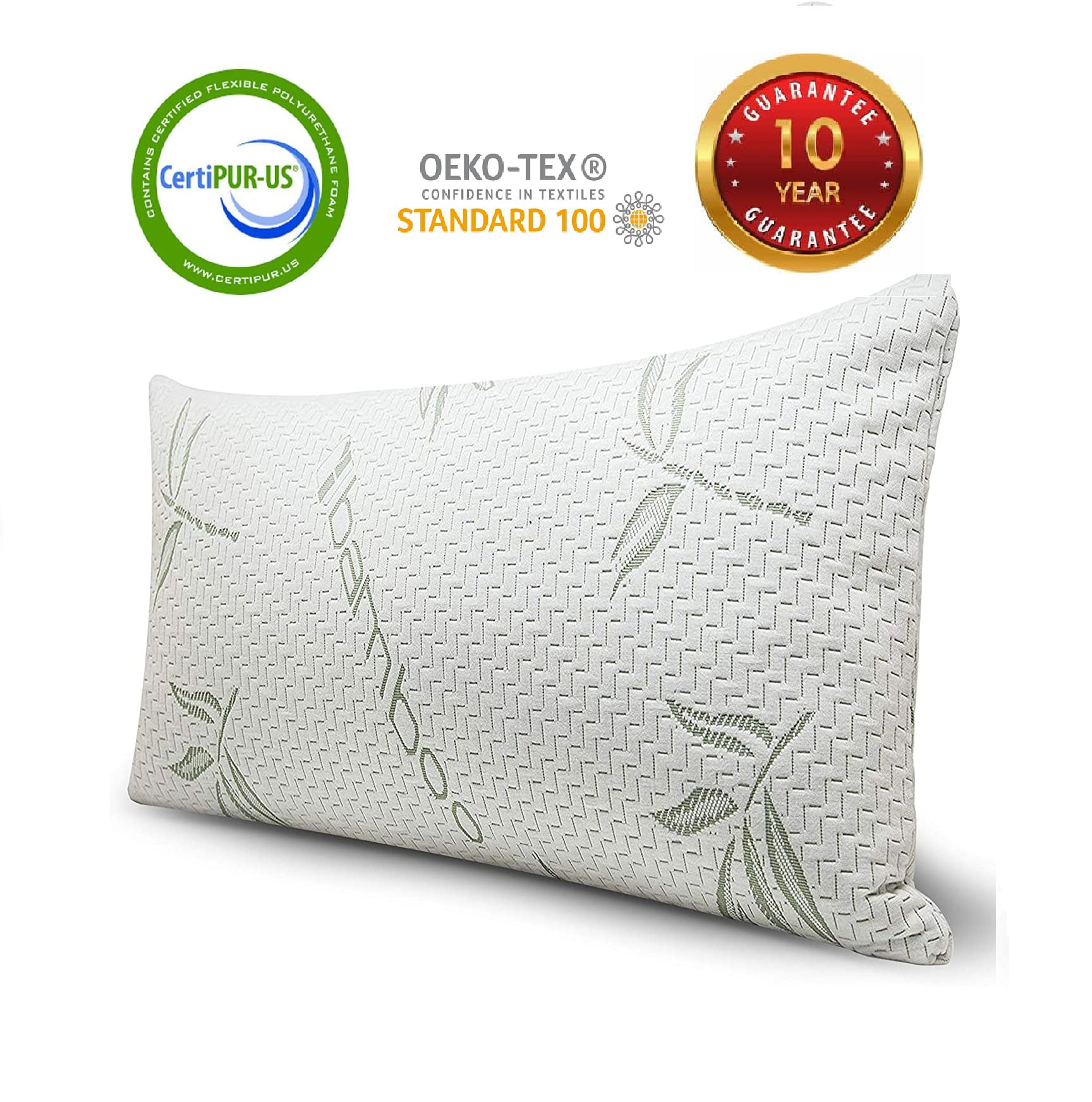 Bamboo Shredded Memory Foam Pillow Hypoallergenic Cover Pillow Queen//King Size