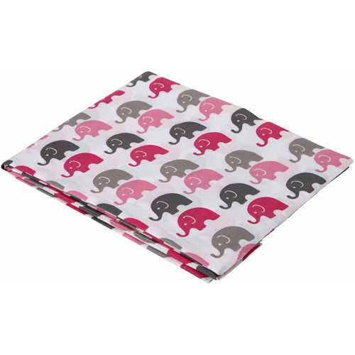 Bacati Mini Elephants Fitted Crib Sheet 100% Cotton Percale, Available in Multiple Colors