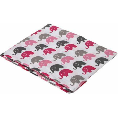 Bacati Mini Elephants Fitted Crib Sheet 100 Cotton
