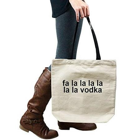 Funny Fa La La Vodka Alcohol Tote Handbag Shoulder Bag
