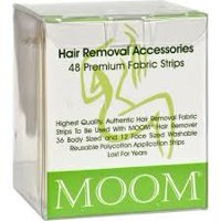 Moom Body Hair Removal Fabrics Strips, 48 Ct