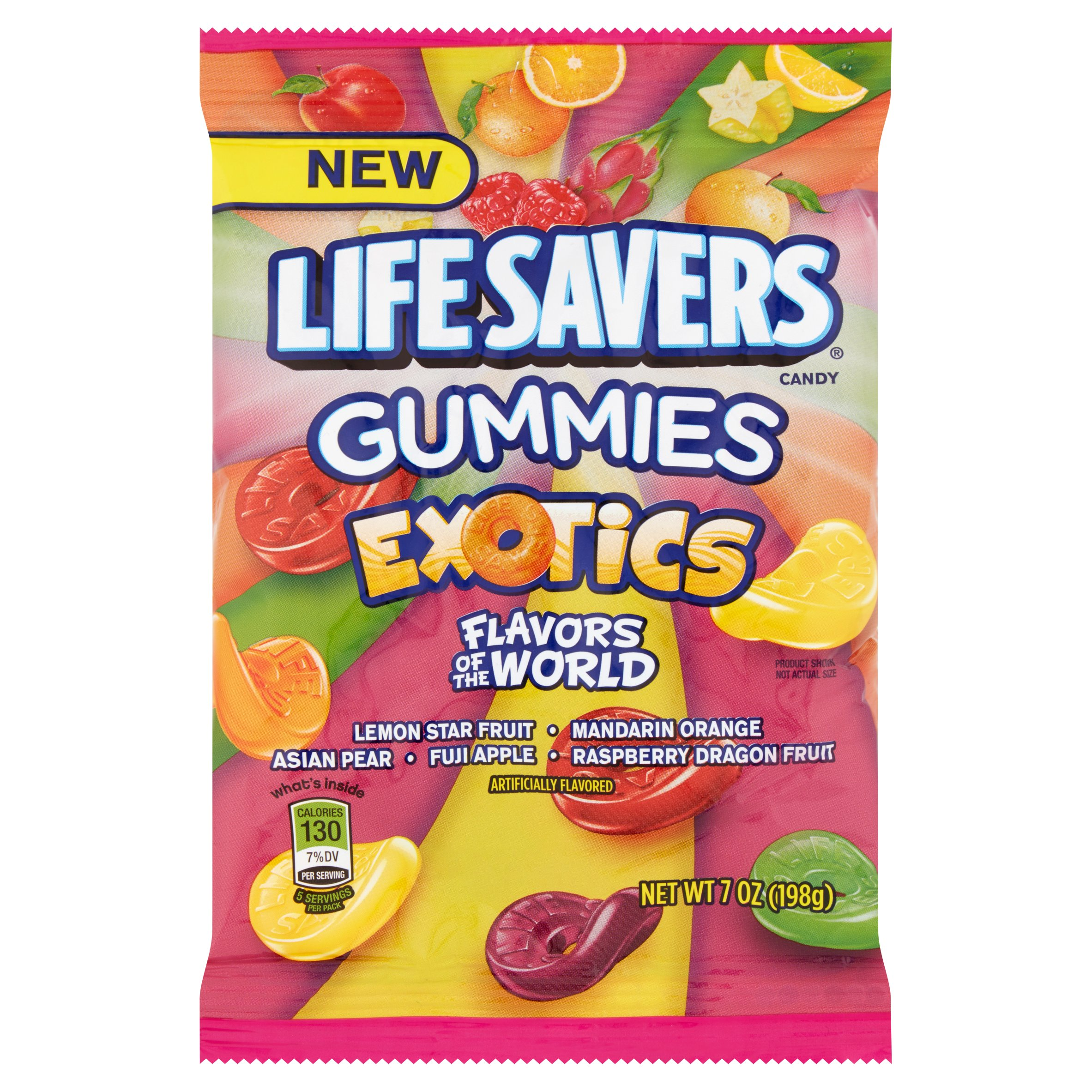 Life Savers, Exotics Chewing Gummies Candy, 7 Oz