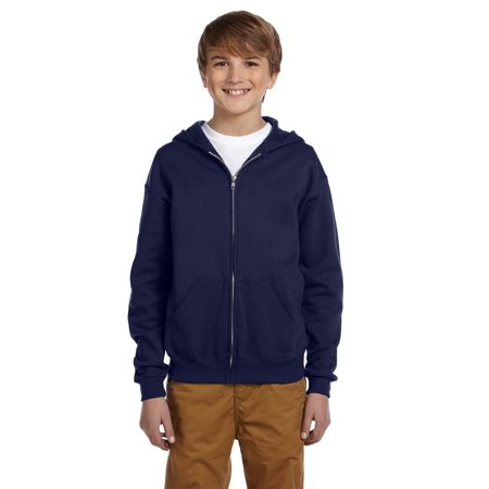 A Product of Jerzees Youth 8 oz. NuBlend® Fleece Full-Zip Hood - J NAVY - M [Saving and Discount on bulk, Code Christo]