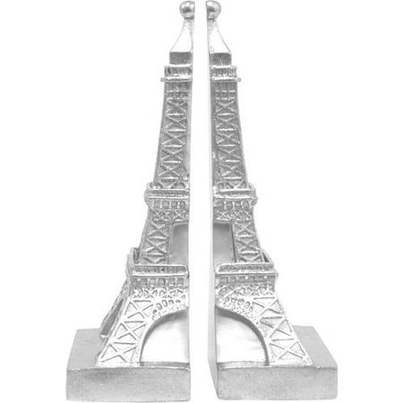 Silver Monochrome Resin - Unique Silver Resin Small Eiffel Tower Bookend