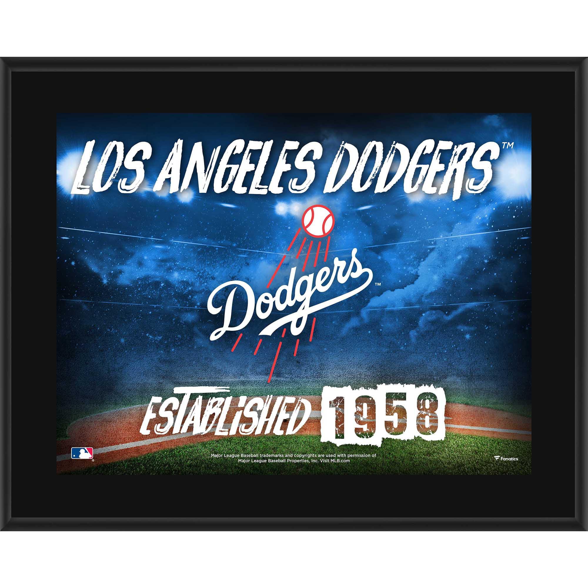 "Los Angeles Dodgers Fanatics Authentic 10.5"" x 13"" Sublimated Horizontal Team Logo Plaque - No Size"