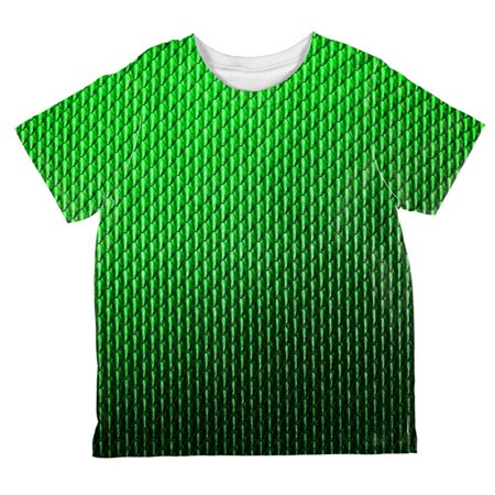 Halloween Green Earth Dragon Scales Costume All Over Toddler T Shirt](Earth Costumes)