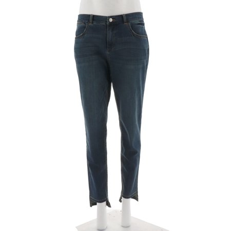 Lisa Rinna Collection Step Hem Jeans A305091 (Canyon River Blue Jeans)